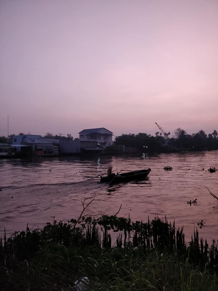 i canali di can tho all'alba sul Mekong