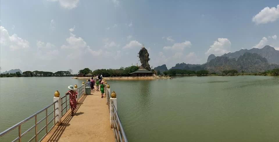 Kyauk Kalap Pagoda nei pressi di Hpa-An