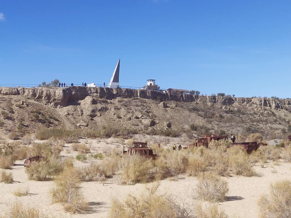 La riva dell'ex Lago d'Aral a Moynaq