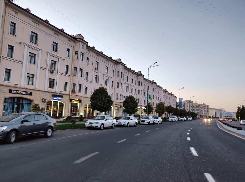 Una via del quartiere russo di Samarcanda