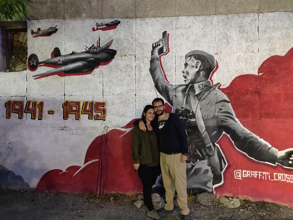 Murales a Shymkent dedicati alla seconda guerra mondiale