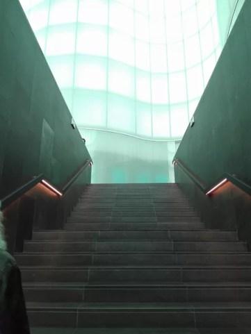 Le scale che portano alle sale del MUDEC - museo delle culture