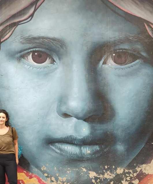 murales nel centro di Cochabamba in Bolivia