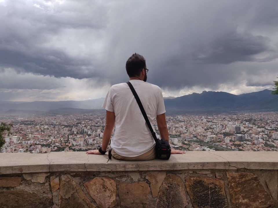 vista di Cochambamba dalla cima del Cristo della Concordia