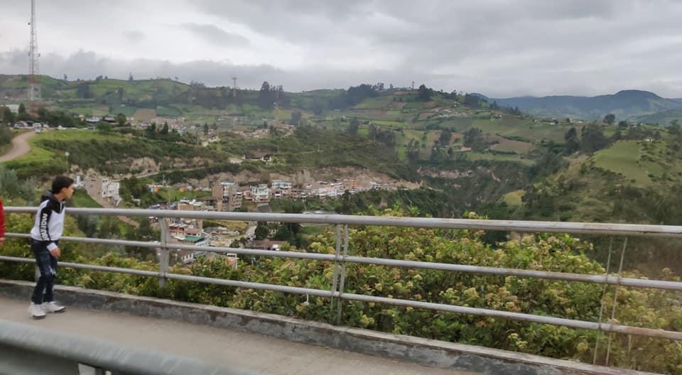 Vista tra Ipiales e Las Lajas in Colombia
