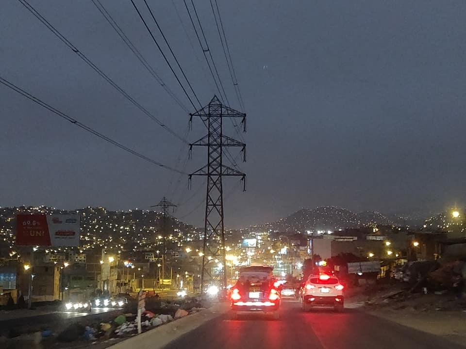 Lima Sur di notte