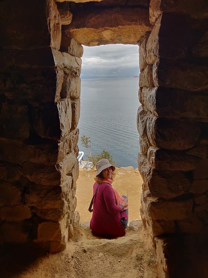 Resti Quechua sull'isola del Sol nel lago Titicaca in Bolivia