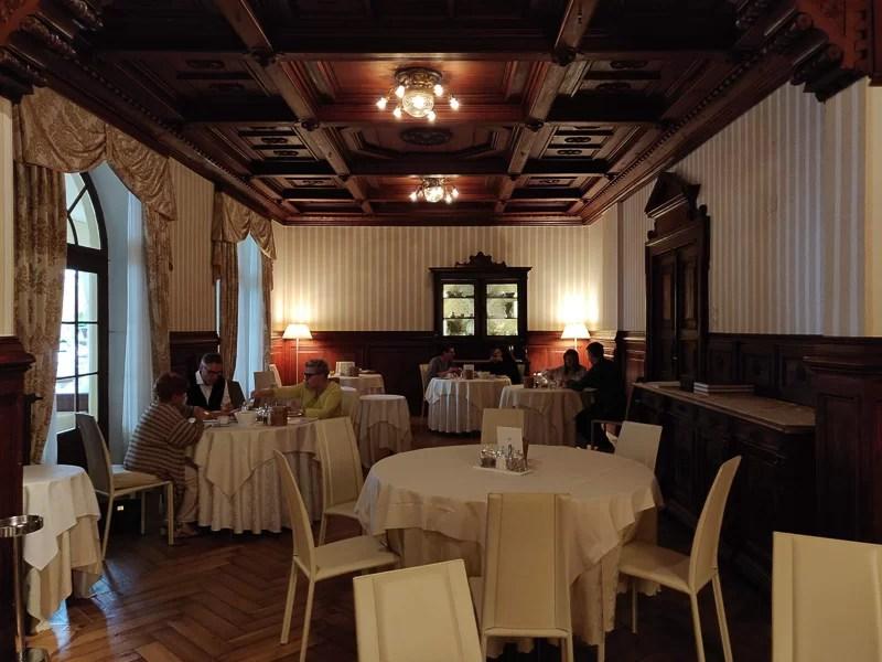 La sala da pranzo del Grand Hotel Fasano
