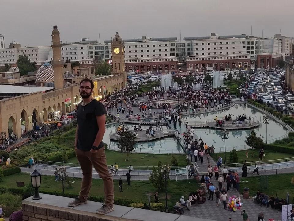 La piazza principale di Erbil vista dalla Cittadella