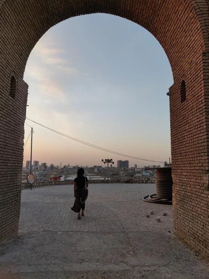 La porta nord della cittadella di Erbil