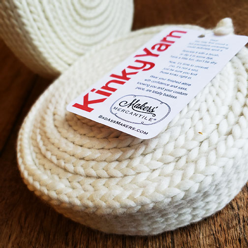 Two new cakes of Kinky Yarn.