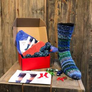 Contents of the Sock of the Month Subscription Box January 2020