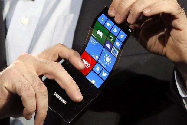 Smartphone à écran souple