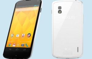LG Nexus 4 disponible en blanc