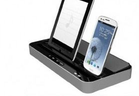 iPega support dual tablette, smartphone avec speaker intégré