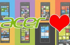 Acer aime Windows Phone 8 mais...