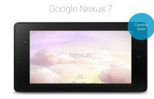 Google annonce sa tablette Nexus 7 pour la France