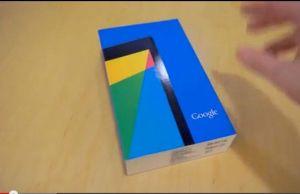 ouverture de boite du nouveau Nexus 7