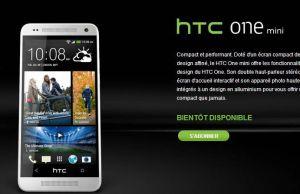 HTC One Mini présenté officiellement depuis le site du constructeur