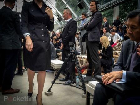 iPhone 5S filme le défile Burberry
