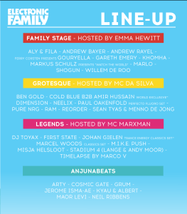 electronic Family 2016 line up