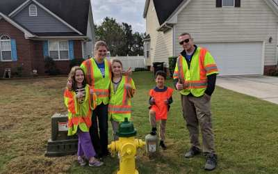OSD Fayetteville Serves Local Fire Department with Fire Hydrant Painting Project