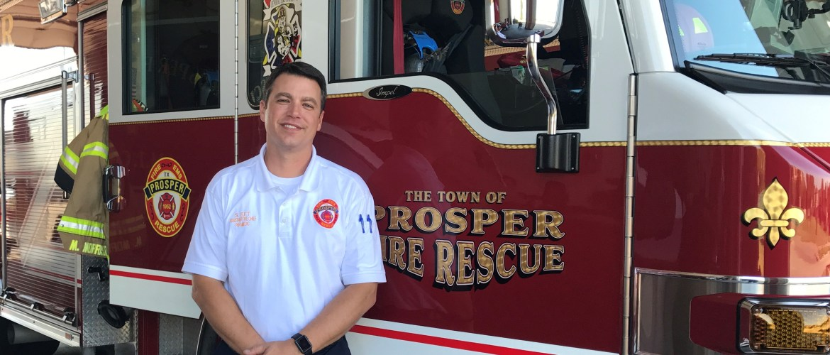Prosper Welcomes New Assistant Fire Chief Shaw Eft
