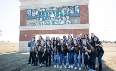 Billboard Change for the 2017 Volleyball State Champions