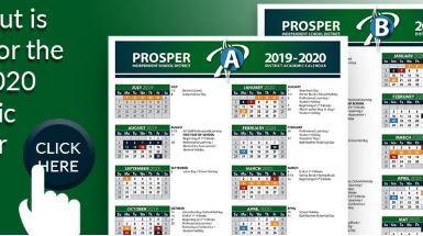 Prosper ISD 2019-2020 Calendar Options