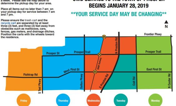 Changes to Trash Collection Schedule
