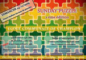Concours Puzzle Champlon Tenneville - Ardenne (BE) @ Ecole communale de Champlon | Tenneville | Wallonie | Belgique