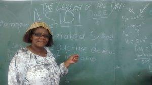 Mrs Gqaleni, Teacher