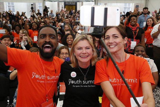 Youth Summit Justine Greening Ronagh Amro selfie