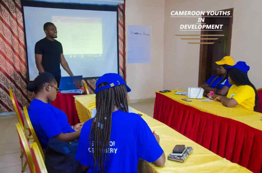 Members of Cameroon Youths in Development in a meeting