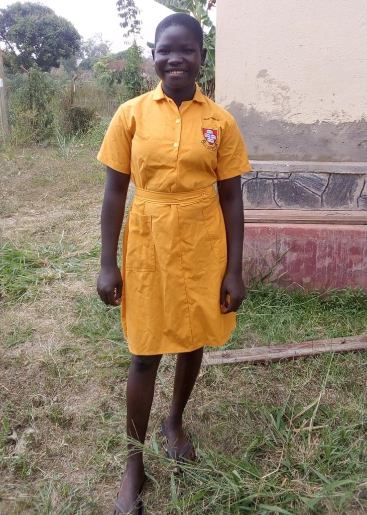 A picture of a young Ugandan school girl called Lagum Blessings Babra