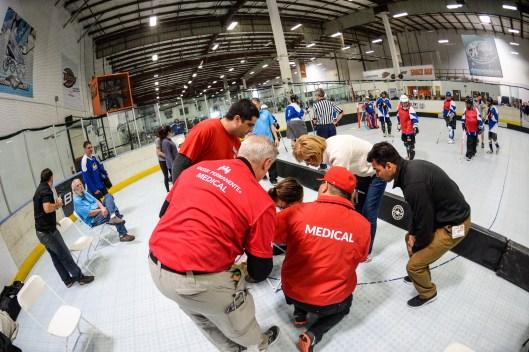 Kaiser Medical Staff 2018 Special Olympics Southern California Floor Hockey Championships - The RINKS in Huntington Beach, Calif. - Mar. 11, 2018