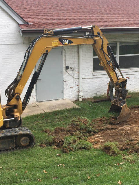 Digging for the footer on the addition.