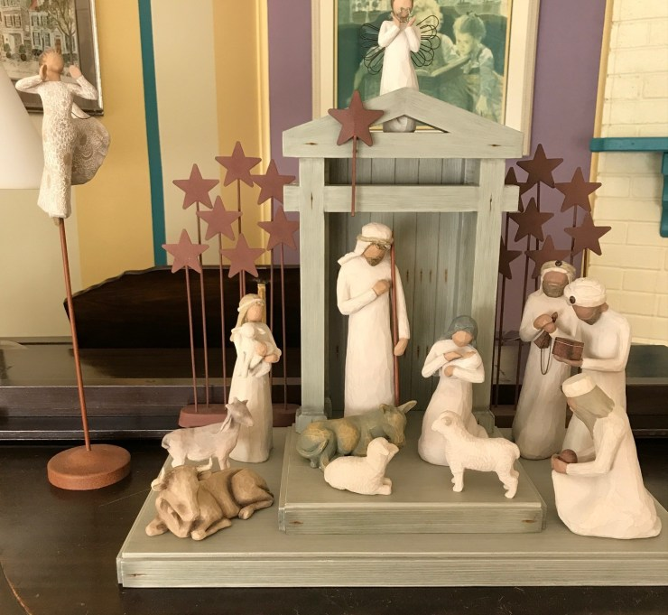 My (Karen's) cousin (who was like a brother to me) gave me this nativity set. Since he is no longer with us, it has become even more special to me over the years. Karen and Rick W.