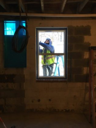 Installation of new window.