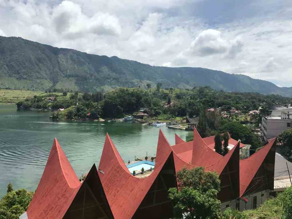 Batak houses in Lake Toba