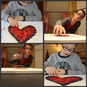 We ART that family: Button Mosaic Heart