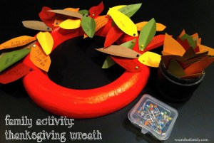 Family Activity: Thanksgiving Wreath