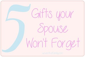 WFMW: 5 Gifts Your Spouse Won't Forget
