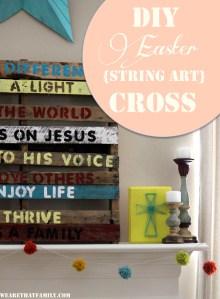 DIY Easter {String Art} Cross