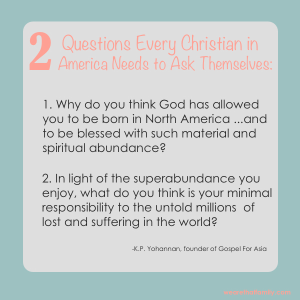 2 Questions Every Christian in America Needs to Ask Themselves
