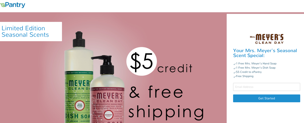 and to celebrate their seasonal scents epantry is offering my readers free mrs meyeru0027s dish soap and hand soap along with a 5 credit and free shipping