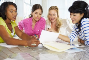 Group Of Women Planning