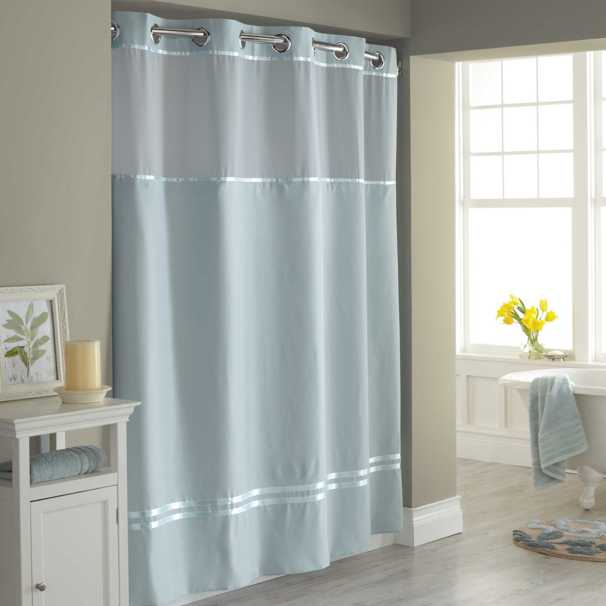 hotel style shower curtain liner