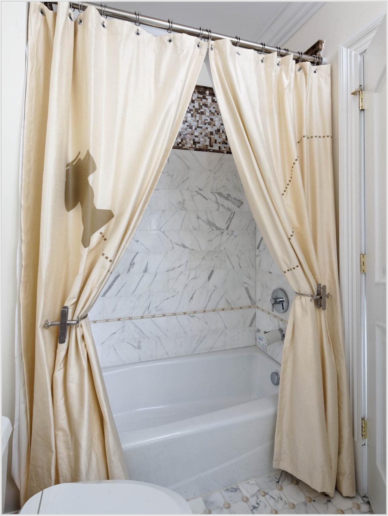 White Shower Curtain Tie Backs Shower Curtains Ideas