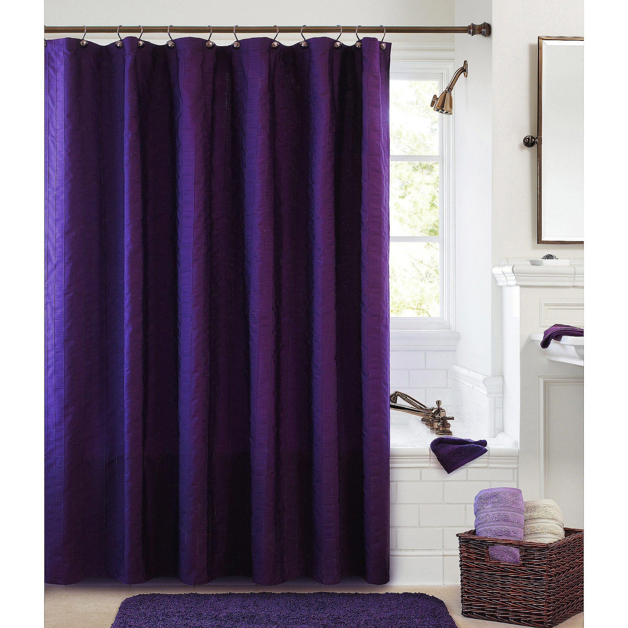 Solid Rust Colored Shower Curtain Shower Curtains Ideas